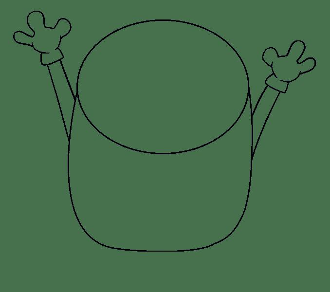 Cách vẽ Bob Minion: Bước 6