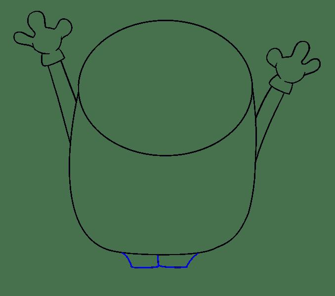 Cách vẽ Bob Minion: Bước 7