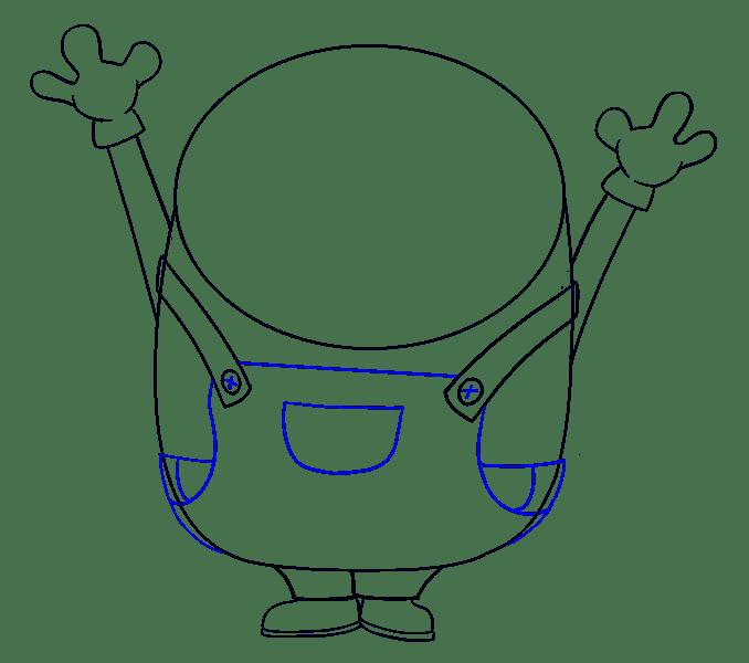 Cách vẽ Bob the Minion: Bước 11