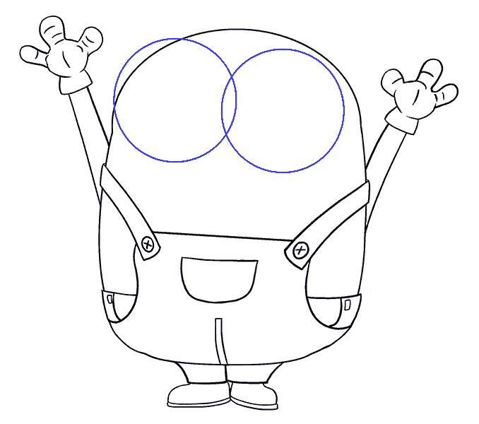 Cách vẽ Bob the Minion: Bước 14
