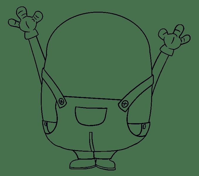 Cách vẽ Bob the Minion: Bước 13