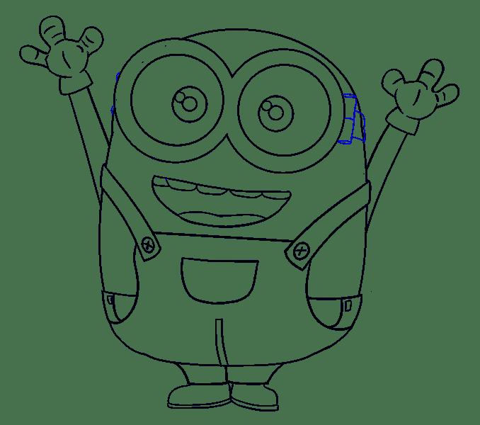 Cách vẽ Bob Minion: Bước 19