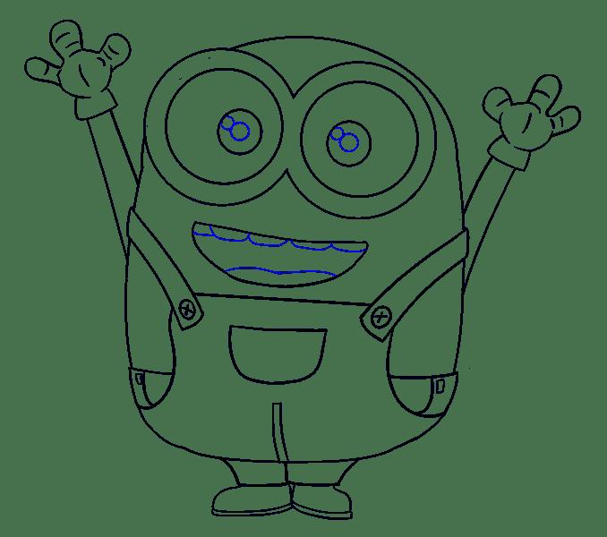 Cách vẽ Bob Minion: Bước 18