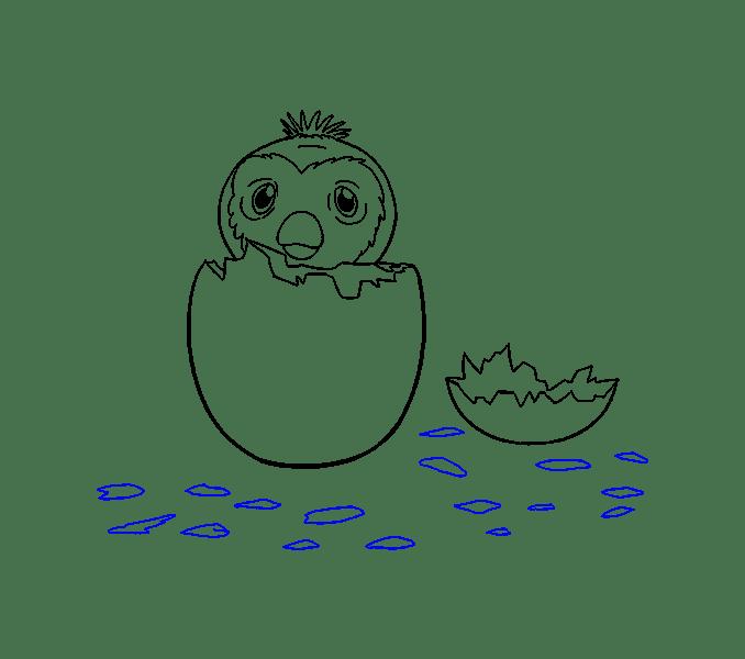Cách vẽ hatchimal: Bước 18