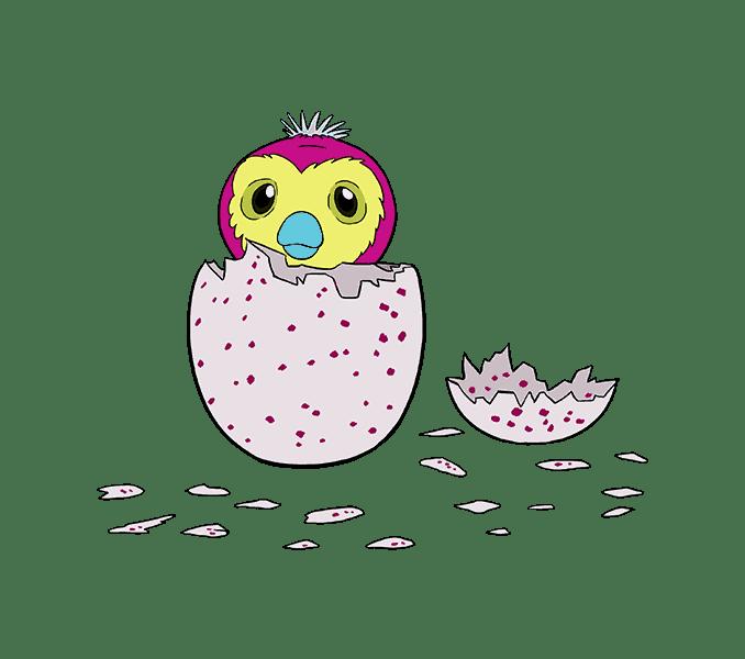 Cách vẽ hatchimal: Bước 20