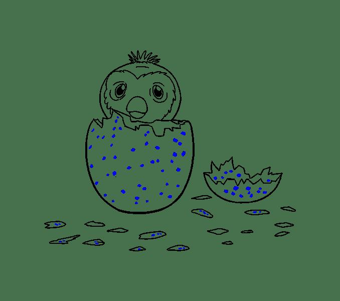 Cách vẽ hatchimal: Bước 19
