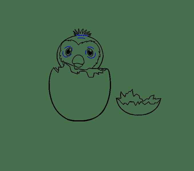 Cách vẽ hatchimal: Bước 17