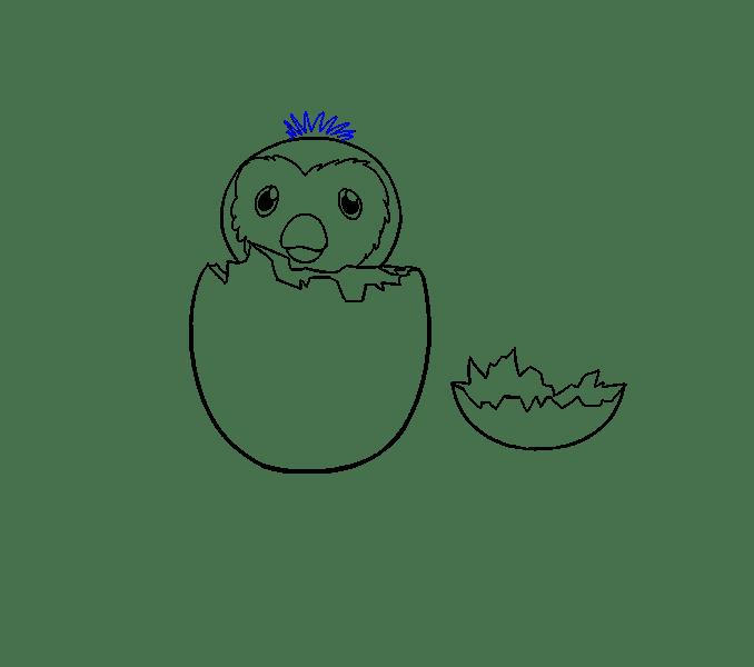 Cách vẽ hatchimal: Bước 16