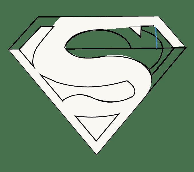 Cách vẽ Logo Superman: Bước 13