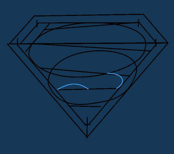 Cách vẽ Logo Superman: Bước 9