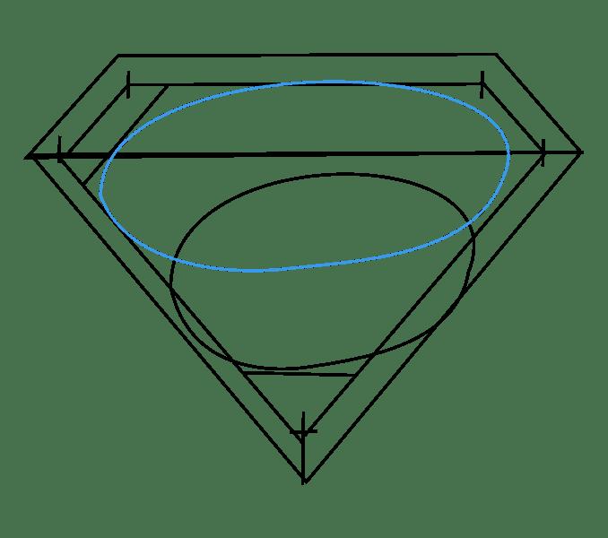 Cách vẽ Logo Superman: Bước 7