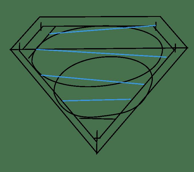 Cách vẽ Logo Superman: Bước 8