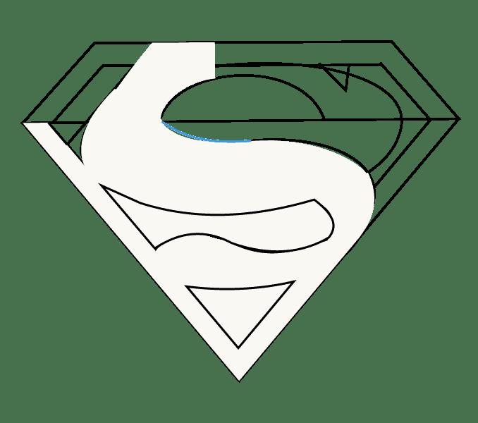 Cách vẽ Logo Superman: Bước 11
