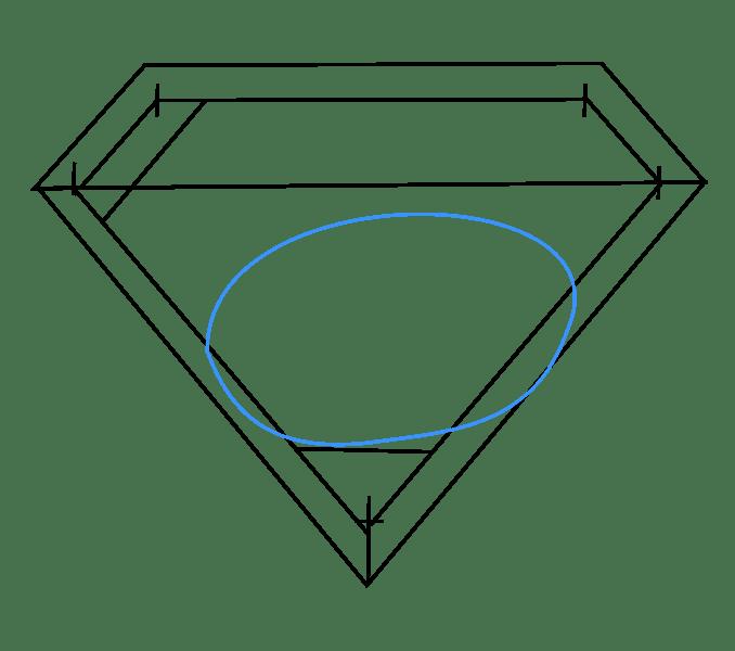 Cách vẽ Logo Superman: Bước 6