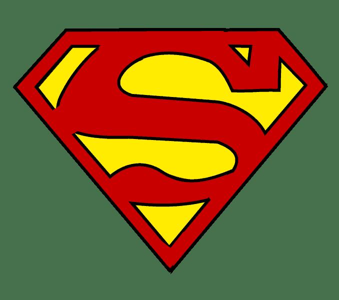 Cách vẽ Logo Superman: Bước 16
