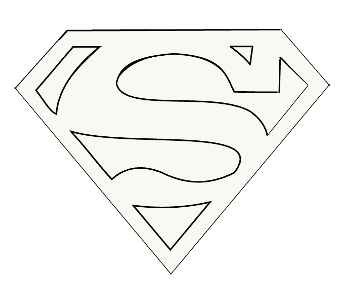 Cách vẽ Logo Superman: Bước 15