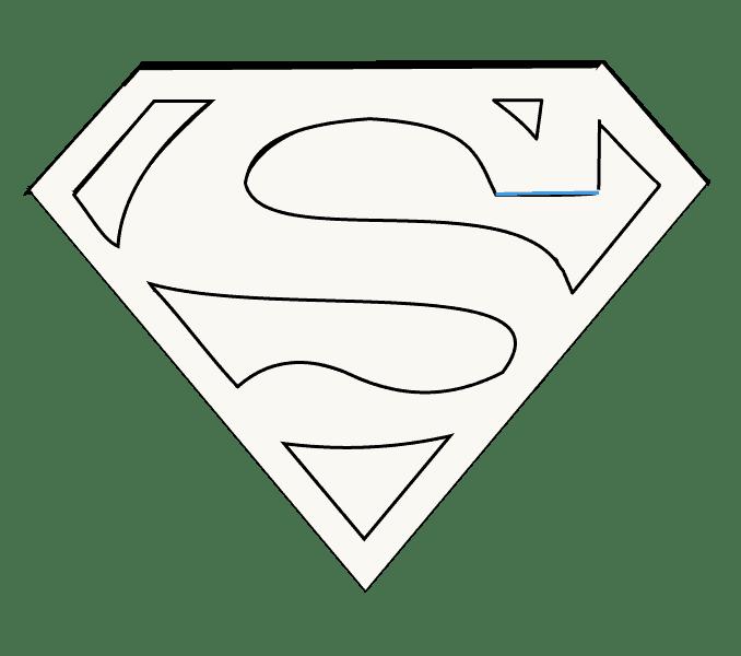 Cách vẽ Logo Superman: Bước 14