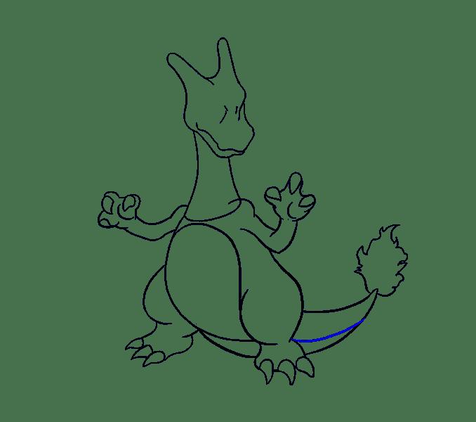 Cách vẽ Charizard: Bước 17