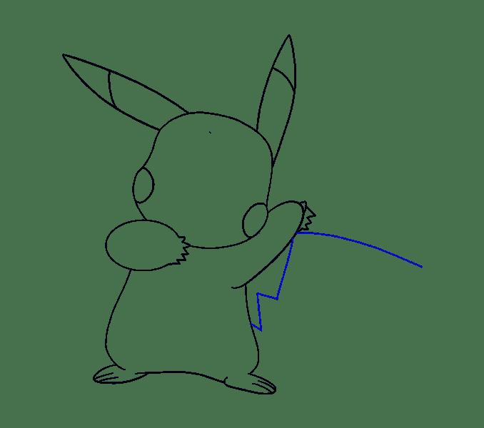 Cách vẽ Pikachu: Bước 15