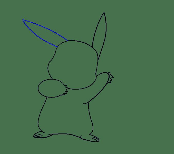 Cách vẽ Pikachu: Bước 13
