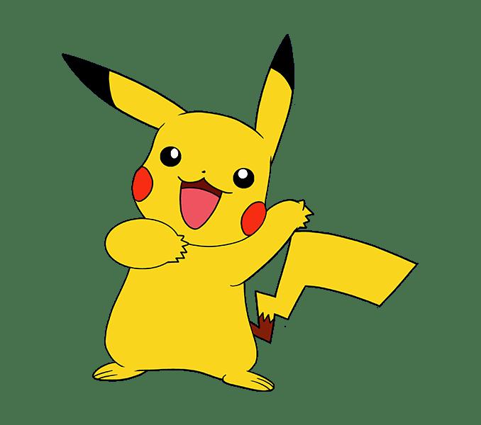 Cách vẽ Pikachu: Bước 20