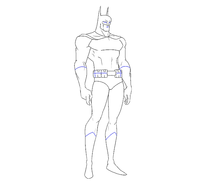 Cách vẽ Batman: Bước 15