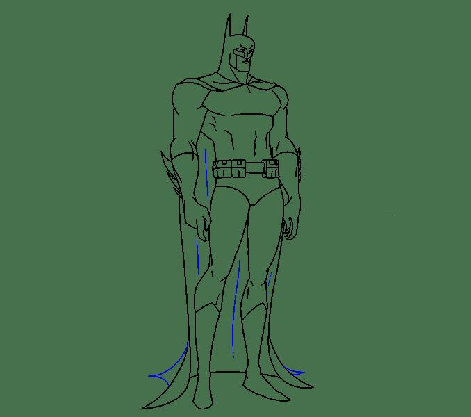Cách vẽ Batman: Bước 18