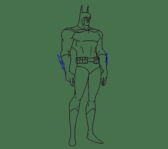 Cách vẽ Batman: Bước 16