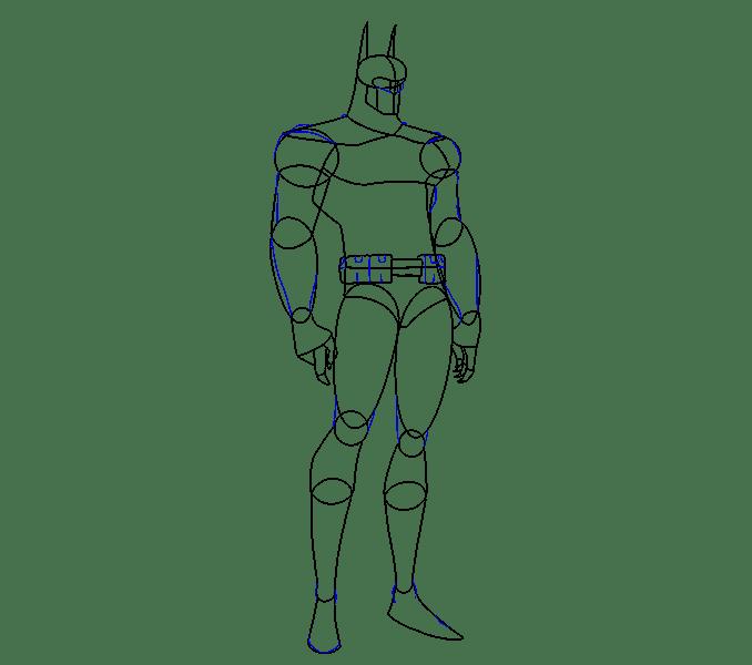 Cách vẽ Batman: Bước 12