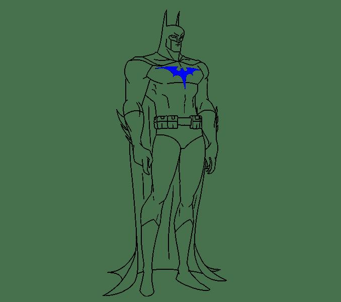Cách vẽ Batman: Bước 19