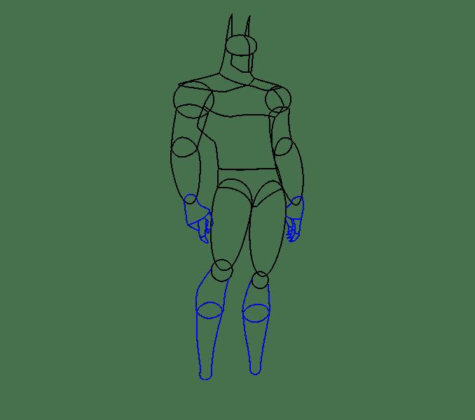Cách vẽ Batman: Bước 10