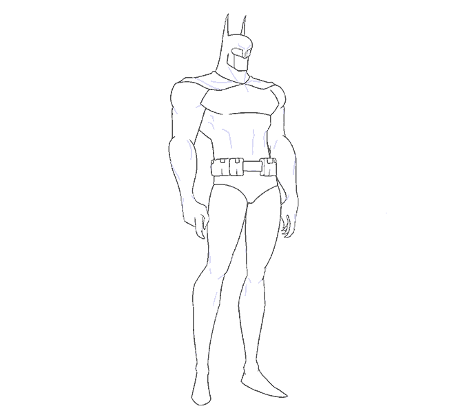 Cách vẽ Batman: Bước 14