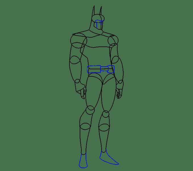 Cách vẽ Batman: Bước 11