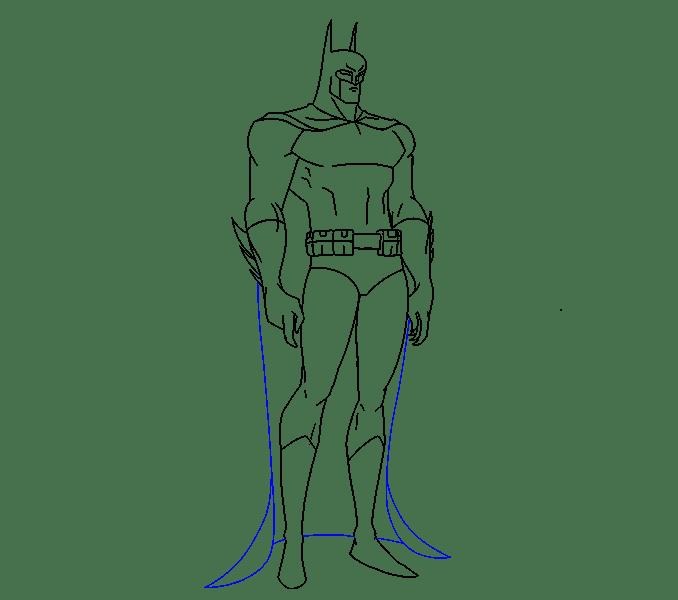 Cách vẽ Batman: Bước 17