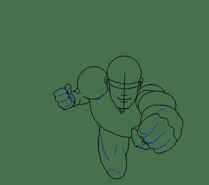 Cách vẽ siêu nhân: Bước 11