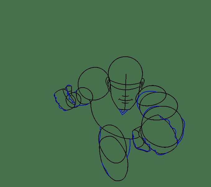 Cách vẽ siêu nhân: Bước 9