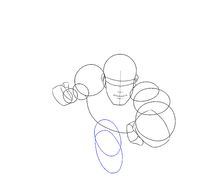 Cách vẽ siêu nhân: Bước 8