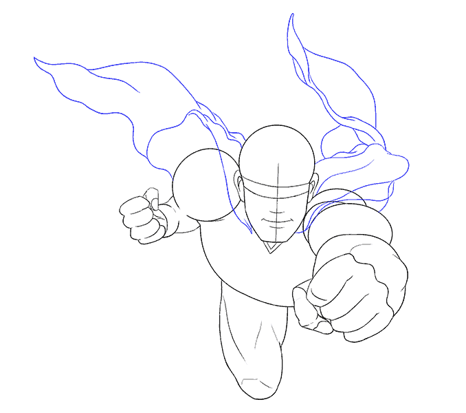 Cách vẽ siêu nhân: Bước 12