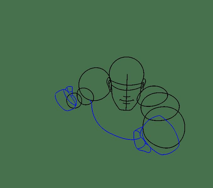 Cách vẽ Superman: Bước 7