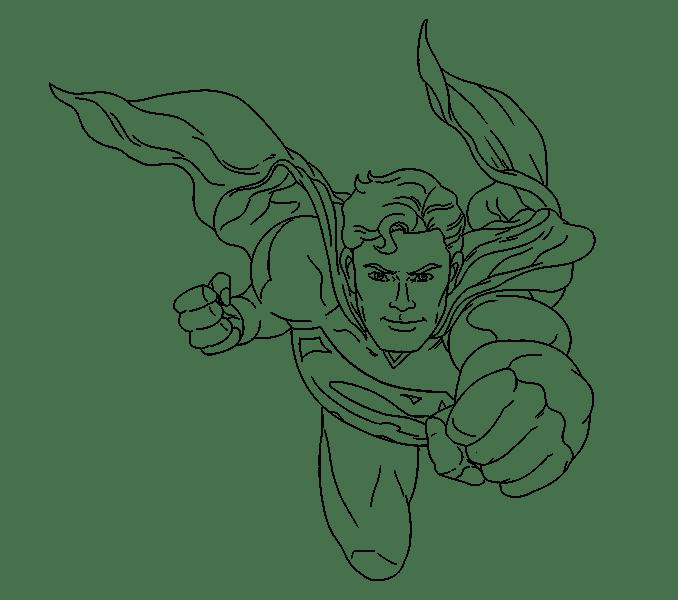 Cách vẽ siêu nhân: Bước 20