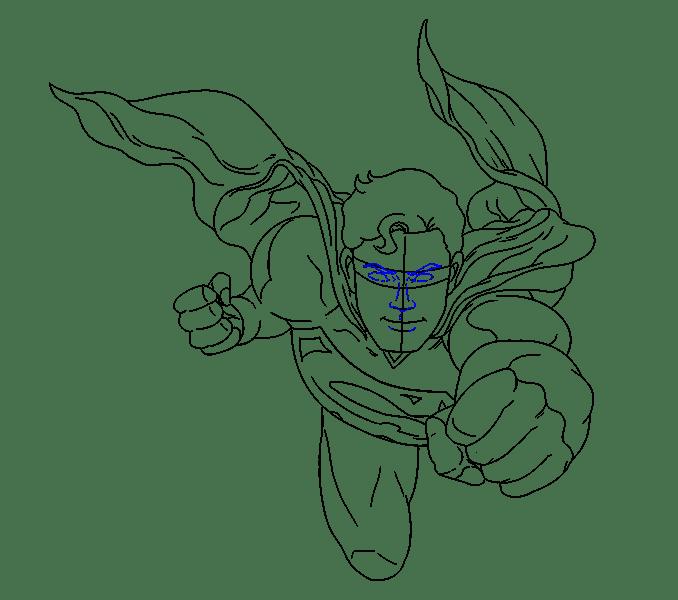 Cách vẽ siêu nhân: Bước 17