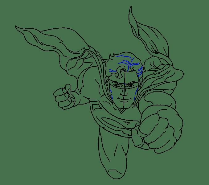 Cách vẽ siêu nhân: Bước 19