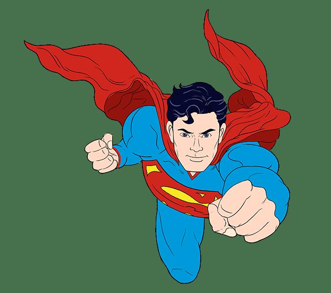 Cách vẽ siêu nhân: Bước 21