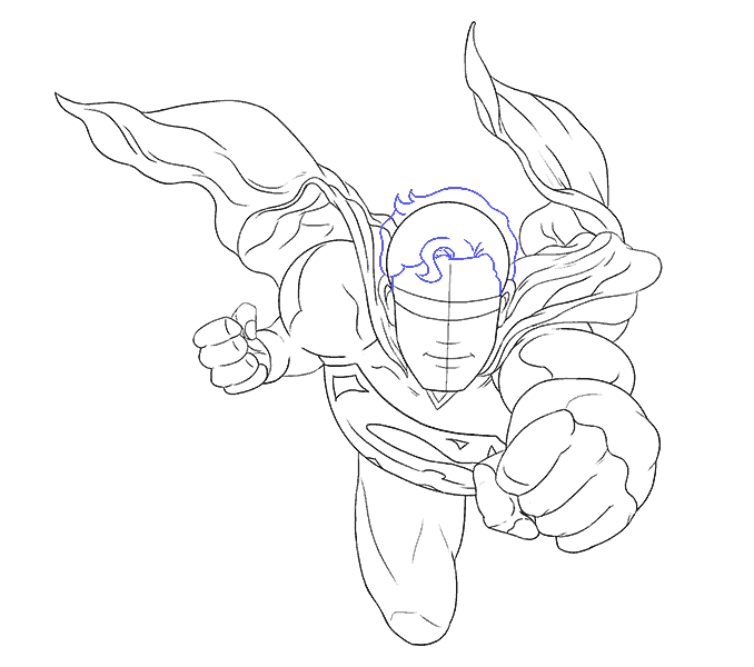 Cách vẽ siêu nhân: Bước 15
