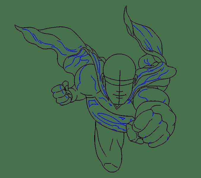 Cách vẽ siêu nhân: Bước 14