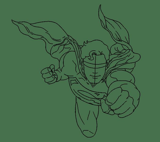 Cách vẽ siêu nhân: Bước 16