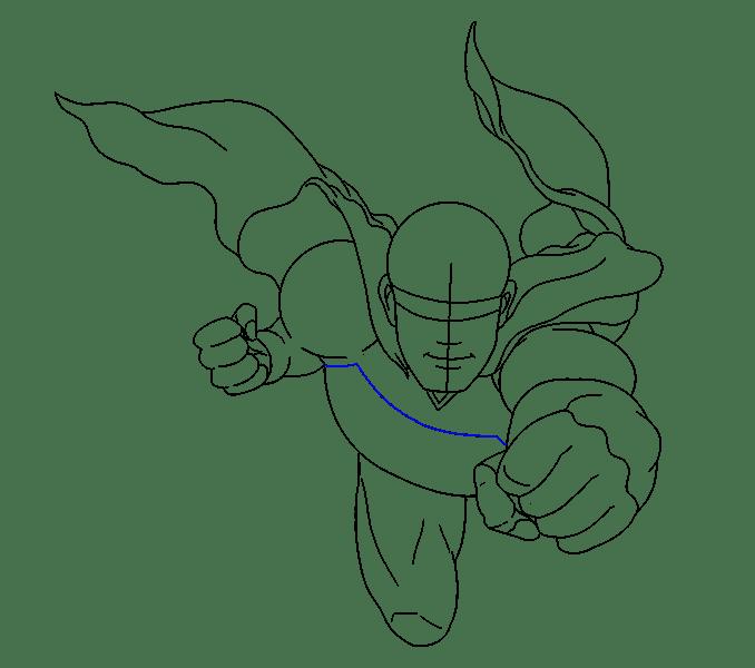 Cách vẽ siêu nhân: Bước 13