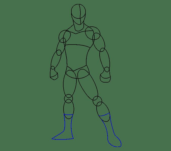 Cách vẽ Người nhện: Bước 10