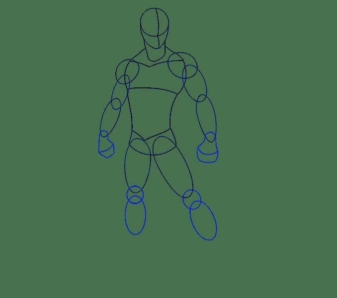 Cách vẽ Người nhện: Bước 9