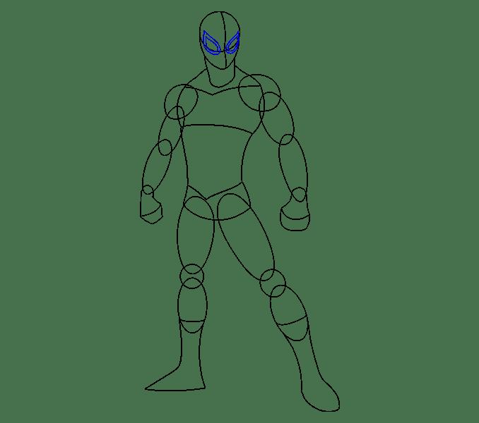 Cách vẽ Người nhện: Bước 11